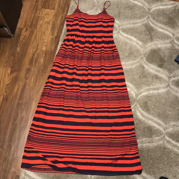 gap dresses stripped red orange and navy dress poshmark